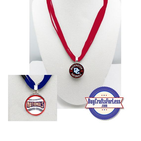 WASHINGTON Baseball PENDaNT, CHooSE Design and Ribbon Cord - Super CUTE!  +FReE SHiPPiNG & Discounts*