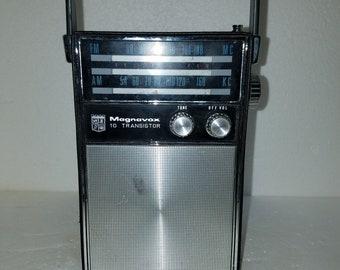Vintage Magnavox 10 Transistor Portable Radio 1960s