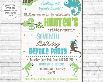 Instant download invitations party printables by printmagic reptile birthday invitation reptile invitation reptile birthday party instantly download and personalize in stopboris