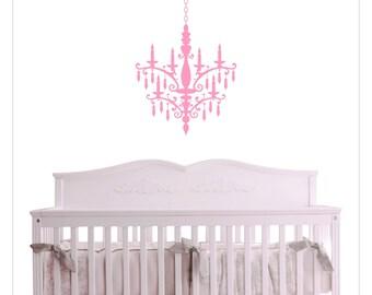 Vinyl CHANDELIER Wall Decal Baby Nursery Girl's Room HD-100