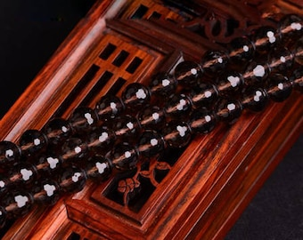 Faceted Natural Smoky Quartz Crystal 6 8 10 12 14mm Loose Beads Bulk Wholesale for DIY Necklace Bracelet Earrings Beading - DY002174