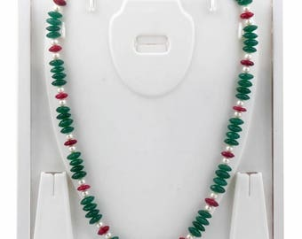 Natural Ruby Pearls Onyx Exclusive Quality beautiful evening necklace for her