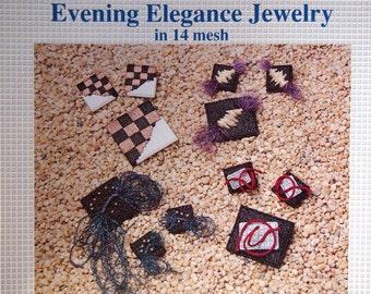 Evening Elegance Jewelry In 14 Mesh By Lynda Scott Musante Vintage Plastic Canvas Leaflet 1990