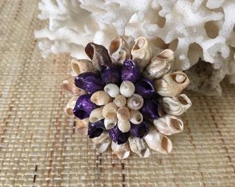 Vintage seashell brooch   shell pin   vintage brooch   nautical brooch   shell brooch   shell jewelry
