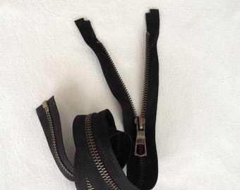 Lot 50 pieces of zippers separable Black mesh bronze length 60cm for sewing notions diy wholesale