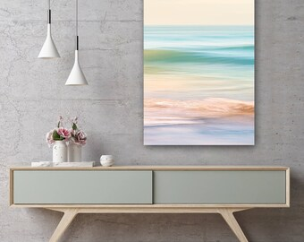 Beach Sea Ocean Waves Summer Canvas Print - Wall Art - Framed Print - Ready To hang - Bespoke Canvas Art