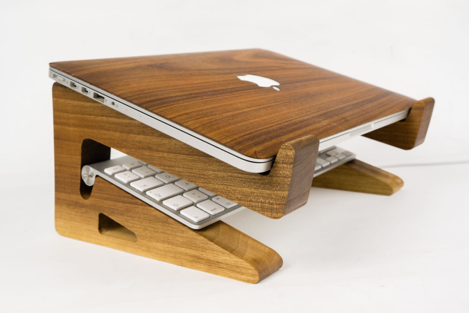 Ipad Stands For Bed Walnut Wood Laptop Stand Riser Macbook Riser