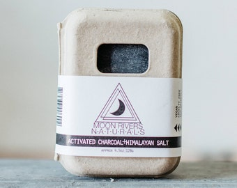 Activated Charcoal and Himalayan Pink Salt Soap