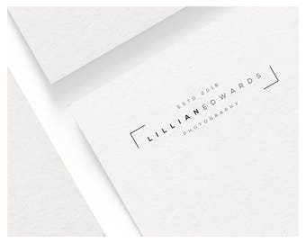 Photography Logo Design. Instant Download Logo. DIY Logo Design. Logo Design Template. Business Logo. Simple Logo. Text Logo. Logo Design
