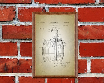 Beer Lover Gift: Beer Poster, Beer Wall Art, Husband Gift, Beer Patent Print, Beer Patent, Home Brewing Poster, Digital Patent Art