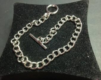 Silver Metal chain bracelet