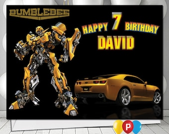 Personalised transformers bumble bee Birthday Card