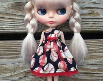 Baseball Blythe Dress