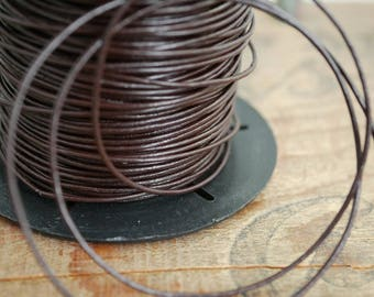 Brown Leather Cord Quality Leather Thin leather Cord 1mm