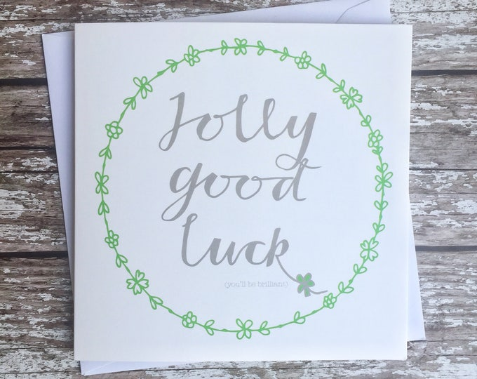 Featured listing image: Jolly Good luck card