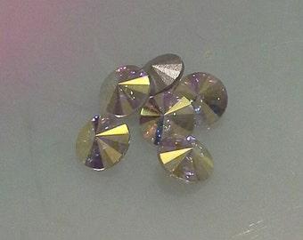 6 ss34 Crystal AB Rivoli Rhinestones Preciosa Brand Size 34 Preciosa Rivoli 7mm crystal ab rivoli