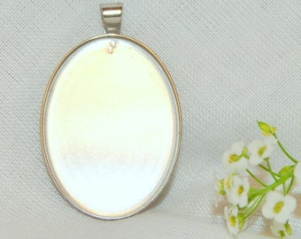 Stainless Steel Oval Pendant Tray (Bezel) 22x30mm