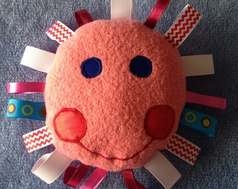 Baby soft toy; baby shower; baby gift; taggy toy; baby cushion;