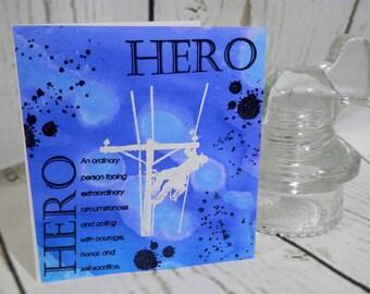 HERO Lineman Greeting Card