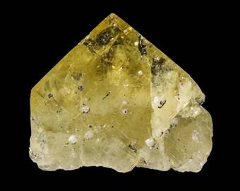 Fluorite, Golden with Pyrite and Quartz