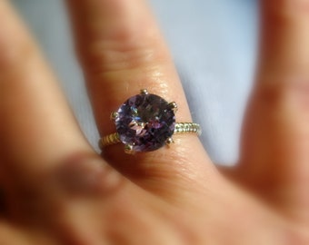 Amethyst 14k Gold Cocktail Ring, Made to Order, yellow gold, rose gold, and white gold