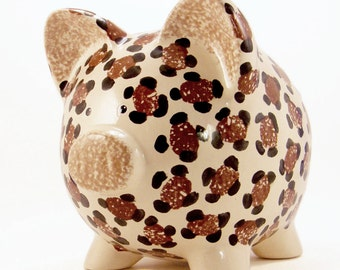 Leopard Piggy Bank - Personalized Piggy Bank - Cheetah Piggy Bank - Jungle Theme Bank - Safari Theme - Baby Gift - with hole or NO hole