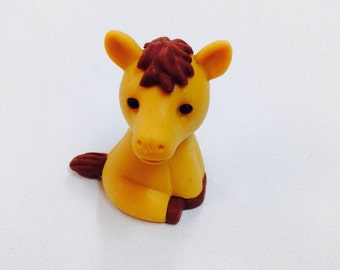 Iwako Brown Horse Collectable Eraser, Novelty, Stationery, Kids, Back to School