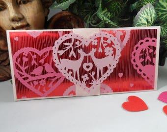 Valentine  Money Holder, Money Card, Christmas Money Card