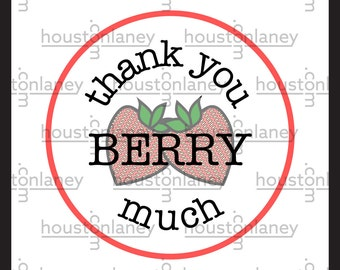 """Thank You """"Berry"""" Much (Strawberry) Thank You Tag"""