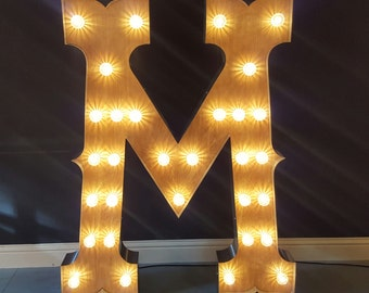 5ft Marquee light up circus font letters.