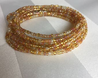 Tiny Seed Bead Multiwrap Gold Mix - Tiny Seed Bead Jewelry - Multiwrap Bracelet - Multiwrap Necklace