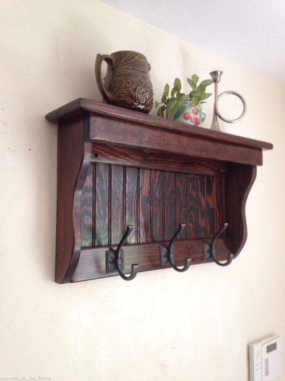 beautiful wood wall mounted coat rack 8