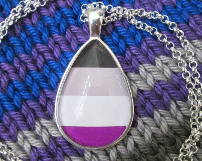 Asexuality Pride - Ace Pride Flag Pendant Necklace
