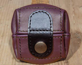 Purple, small leather coin purse pattern