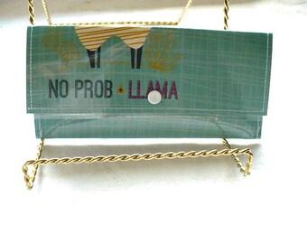 Lamas portefeuille femmes pression fermeture, argent enveloppe système portefeuille, 7 pouces, couvercle en plastique, cousu main,