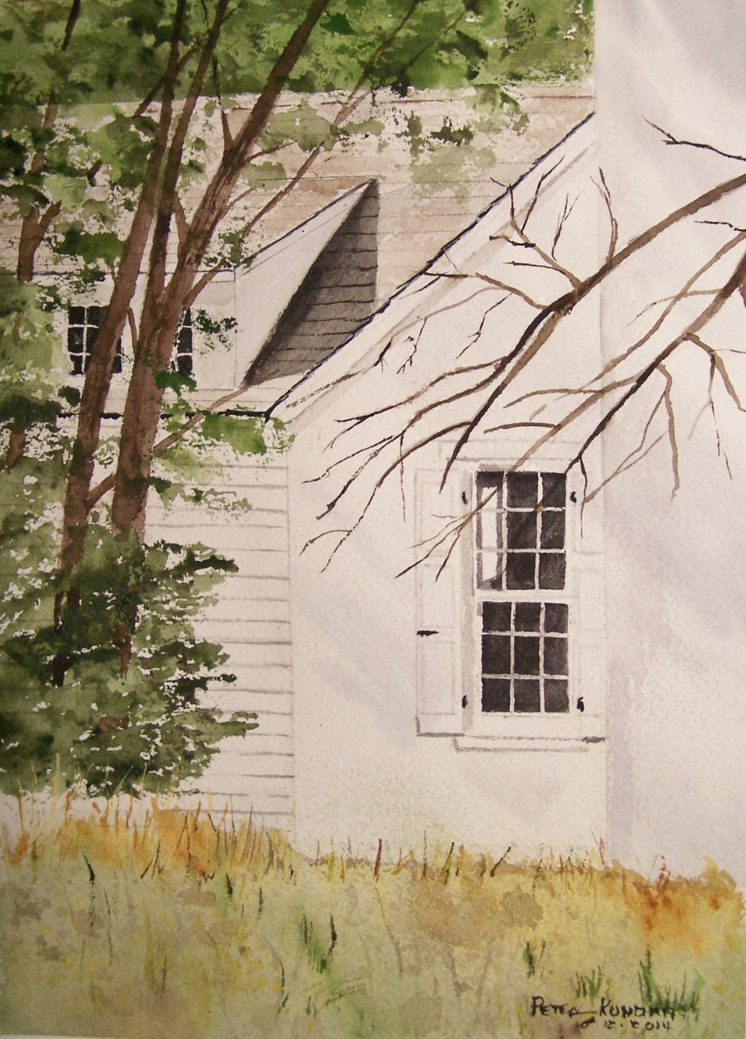 watercolor paintingpainting of Andrew wyeth studioTHE
