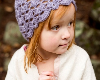 Crochet Hat Pattern for Kids ~ Crochet Hat Pattern for Girls ~ Lace Hat Crochet Pattern ~ Baby Hat Crochet Pattern ~ Vintage Hat Pattern
