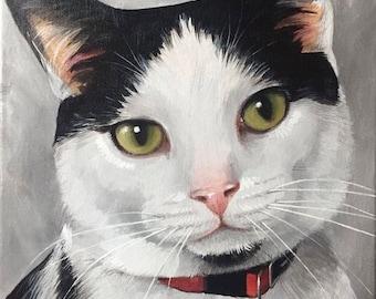 Custom Pet Portraits - Cat Portraits - Custom Painting - Original Painting