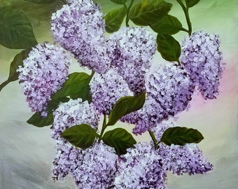 Lilacs. Original 16 x 20 Acrylic painting