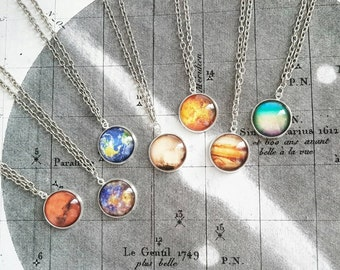 Planet Necklace // Solar System Necklace // Planet Jewelry // Space Necklace // Galaxy Necklace // Space Gift