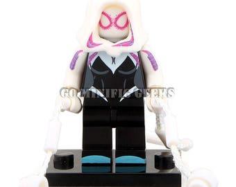 Custom Gwen Minifigure Spider-man Comics Fits Lego UK Seller