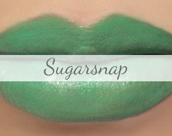 """Green Lipstick Sample - """"Sugarsnap"""" (bright green lipstick - vegan) natural mineral makeup"""