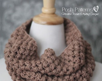 Crochet Pattern - Crochet Cowl Pattern - Crochet Pattern Scarf - Puff Stitch Cowl (Toddler - Adult Sizes) - Instant PDF Download 435