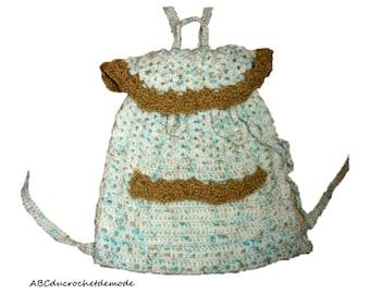 Bag, Messenger, satchel toy or snack for girl crochet unique