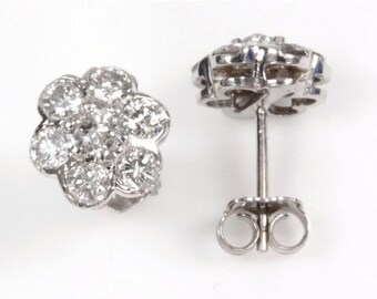 1 ct tw Diamond (G-H, SI3) Gold Stud Earrings