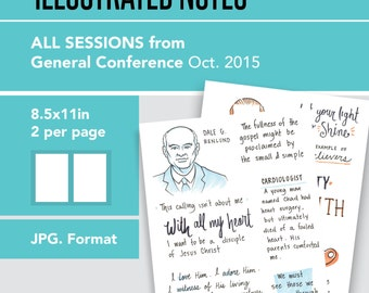 2 Per 8.5x11in page General Conference Illustrated Notes - Oct 2015