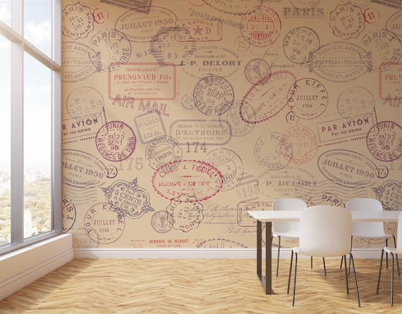 Stamps Adhesive Wallpaper Removable Wall