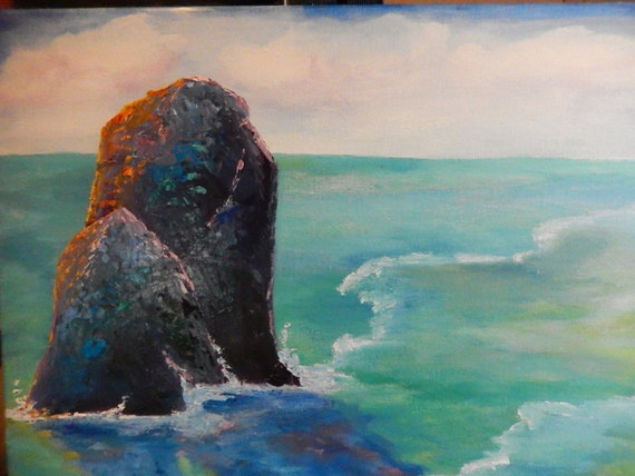 Ocean Painting, California Beach Painting, Seascape, Ocean painting, California Vacation Art