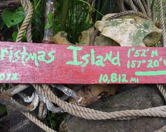 Hand painted wooden signs for your garden, deck, yard or tiki bar.