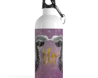 Born To Fly Stainless Steel Water Bottle